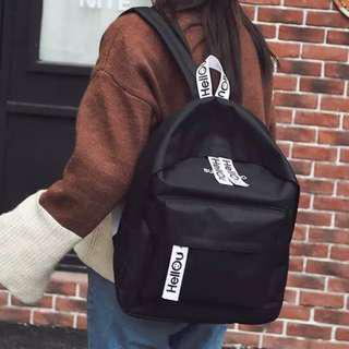 (Ready Stock) Black Big School Bag