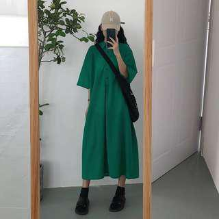 Green Polo Long Dress #julypayday