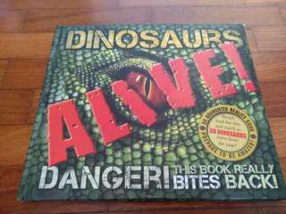 Dinosaur alive  augment reality book