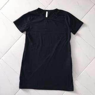 Basic Black Tee Pocket Dress