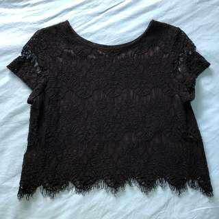 EYSE - Black Lace Crop Top