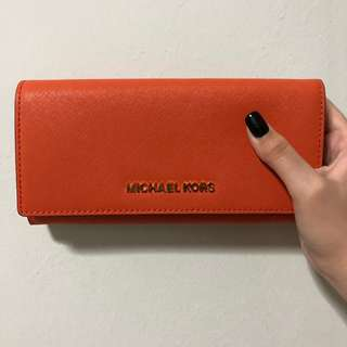 BN Authentic Michael Kors Orange Long Wallet