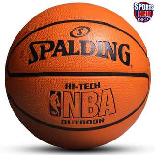 Authentic Spalding Hi-Tech Outdoor Ball Free Pump and Needle, Ball Bag, Head and Hand Sweat Bands! Size 7