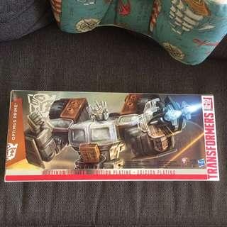 Transformer Optimus prime platinum edition year of the goat transparentl