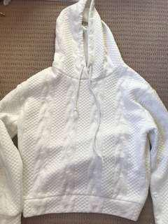 Patterned white hoodie
