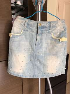 牛仔短裙Franche Lippee
