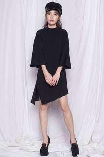 Dolman Sleeve in Black Dress
