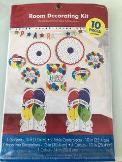 Birthday decorating kit