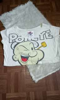 Popeye forever 21 crop top