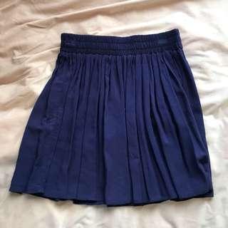 Forever 21 navy flowy skirt