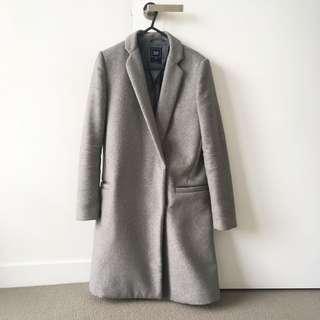 Gap Grey Wool Coat