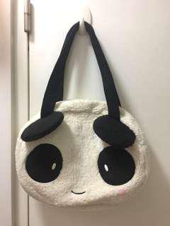 CLEARSTASH Panda Fluffy Bag