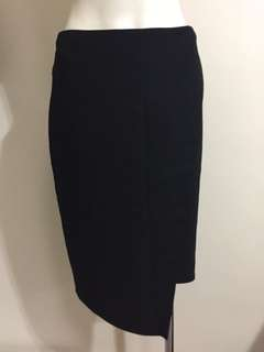 Carla Zampatti Black Pencil Wrap Skirt