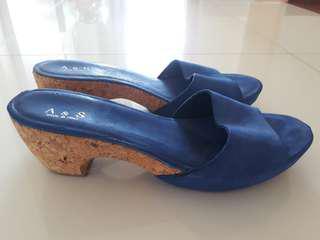 Blue Platform Heels made in Italy