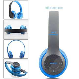 """Wireless Headphones """"P47"""" Bluetooth Over Ear Foldable Headset with Microphone, Stereo Earphones with 3.5mm audio port. Support FM Radio and MicroSD."""