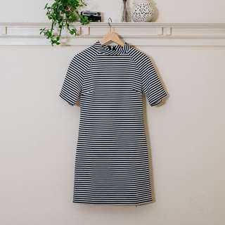 Glamorous Striped Shift Dress NEW