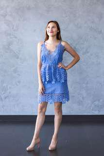 Blue mr self portrait dress