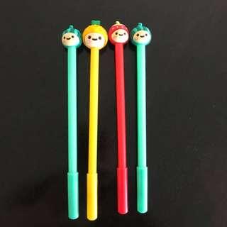 4x fruit babies fine line black pens