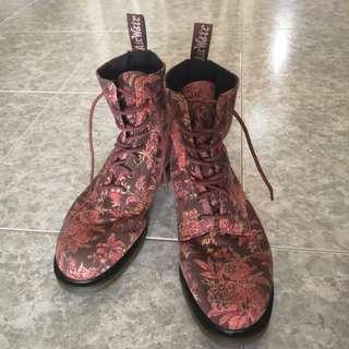 Dr Martens Beckett Floral Boots Size 11