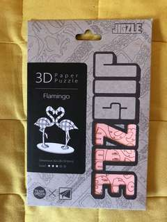 Jigzle 3D puzzle 立體拼圖 紅鶴 flamingo 紙質