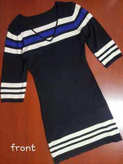 Black Longsleeves Fitted Dress for Ladies