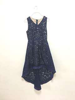 BN FLORAL OVERLAY ASYMMETRICAL DRESS