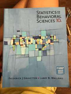 Statistics for the behavioural sciences 10th edition