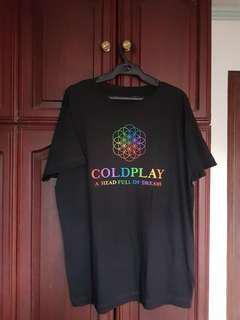Coldplay A Head Full of Dreams Tour Merch tshirt