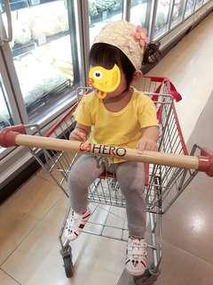 Lace yellow bandana for kids