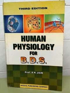 Human Physiology for BDS Prof A K Jain Third Edition