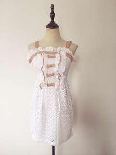 Hollow out bowknot dress