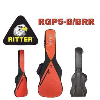 6f1e788bb6 Ritter Performance RGP5-B/BRR Bass Guitar Bag, Black-Racing Red