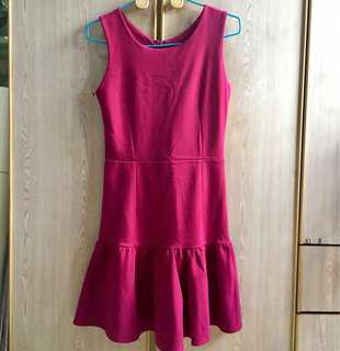 Labellavita Hot Pink Low Waisted Dress