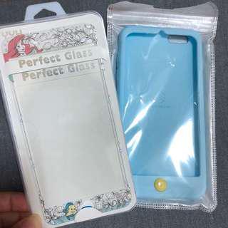 🚚 小美人魚海洋組合(軟殼+玻璃膜)iphone6 Plus 手機殼 玻璃膜