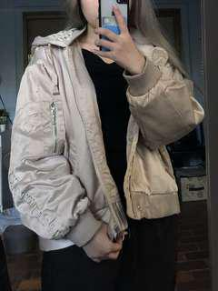 Stussy Beige Satin Jacket