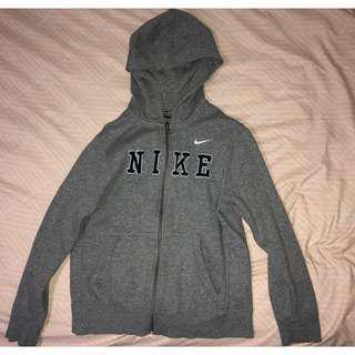 Nike Grey Hoodie Jacket - Size L
