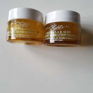 Kiehl's - Calendula and Aloe Soothing Hydration Mask 14ml x 2, Brand New.