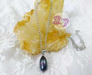 "DY2119 ""Pure Heart"" Cultured Freshwater Purple Blue 45cm Necklace"