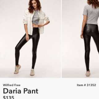 ARITZIA WILFRED FREE DARIA LEATHER LEGGINGS