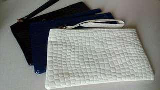 [ Include Postage ]Leather Pu Zipper Clutch Pouch Wallet Purse
