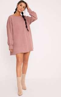 Mauve Oversized Sweater Dress
