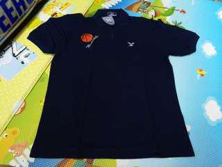 全新深藍色 FBT籃球Polo Tee, looks size