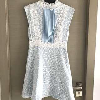 粉藍色喱士斯文裙 lace dress