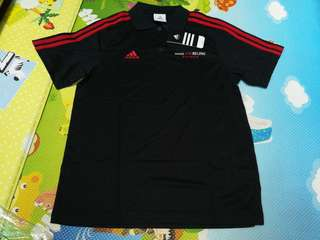 全新黑色Adidas polo shirt, m size, made for Beijing