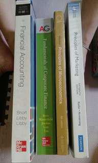 大學教科書 BBA accounting economics finance marketing