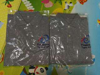 全新灰色Polo Shirt deaflympics Taipei 2009, xs, m size, 70 for 2