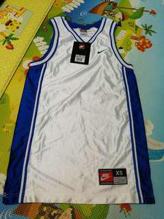 全新Nike白藍色籃球背心,xs size