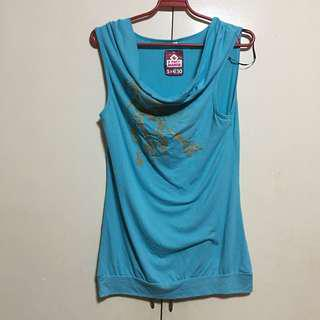 Long Blue Blouse/Top XL