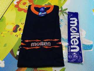 全新深藍色Molten 短袖衫,xl size