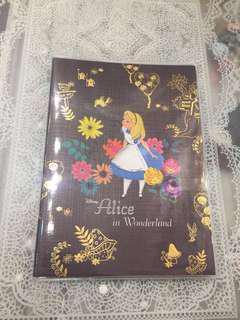 現貨 -日本直送 Alice in the wonderland 2019 schedule book 迪士尼愛麗絲夢遊仙境系列 日程簿 月間 燙金 特別企劃款
